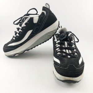 SKECHERS Black/White Strength Shape Up Sneaker 8.5